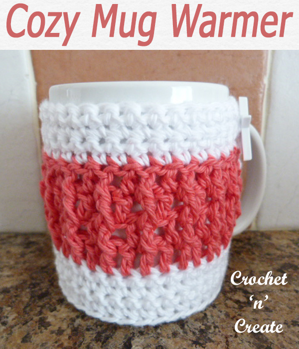 Keep your drinks warm and hands from being burnt with this free crochet pattern for raised stitch mug warmer. CLICK and scroll down the page for the pattern. | #crochetforthehome #crochetcoaster #crochetdining #crochetncreate #crochet #crochetpattern #freecrochetpattern #easypattern #freepattern #forbeginners #diy #crafts #crochetaddict #followforcrochet