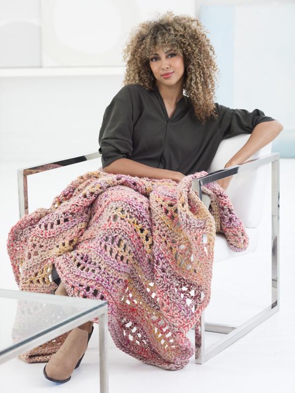 Free Crochet Blanket Patterns From Lion Brand On Crochet