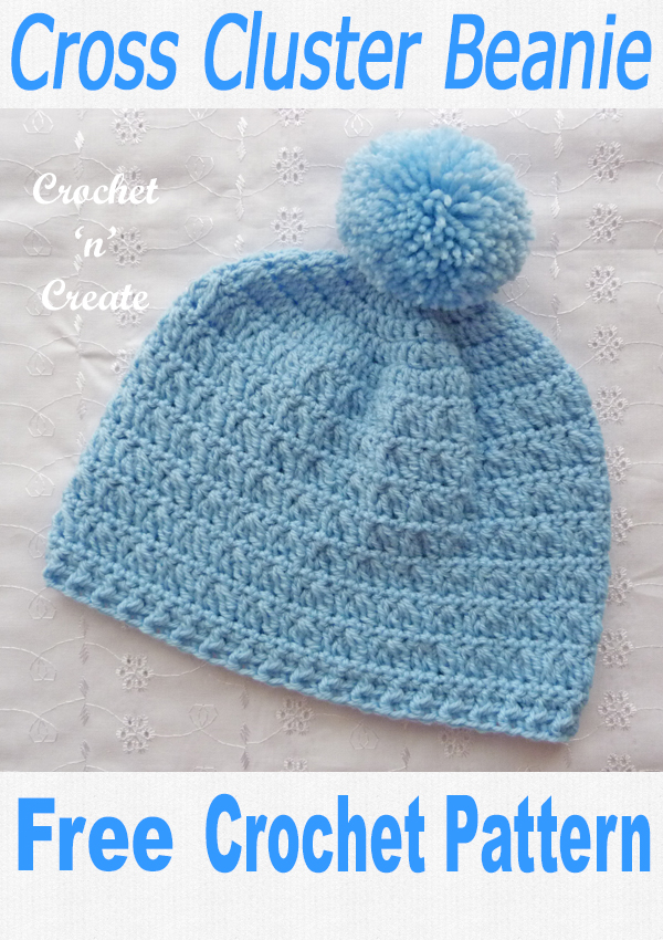 Cross cluster beanie Hat