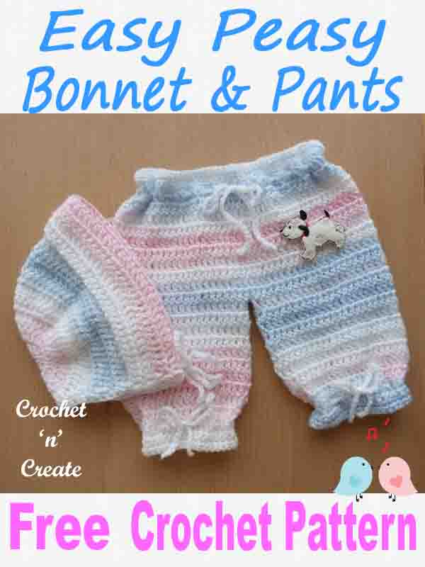 easy peasy bonnet-pants