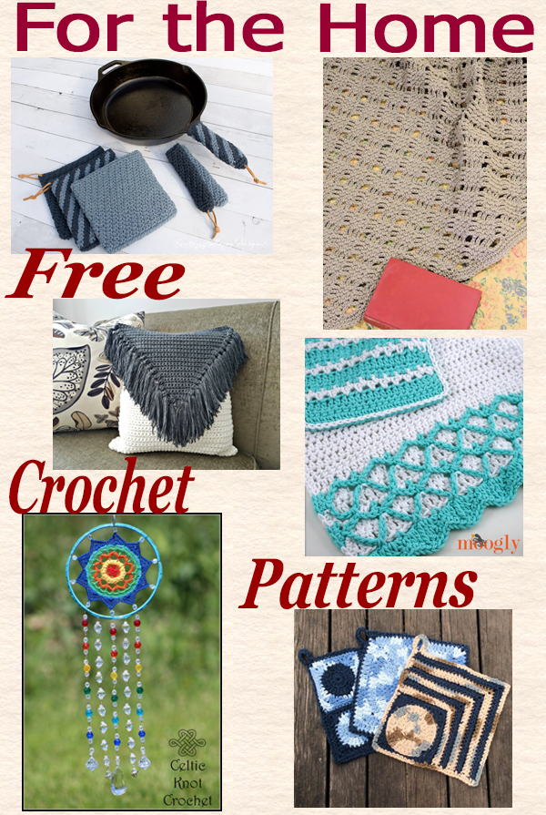 Home decor crochet roundup
