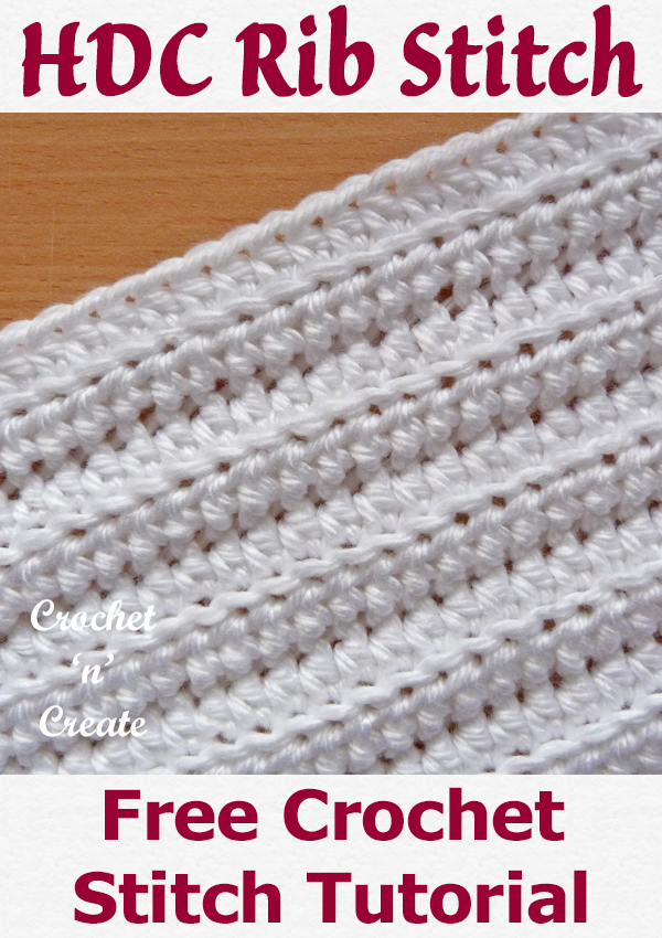 Half double crochet rib stitch