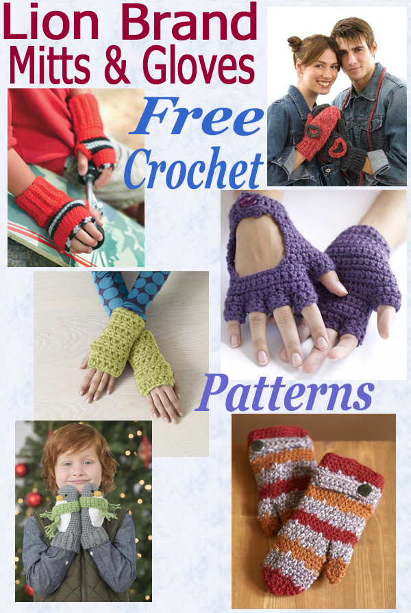 Free crochet mitts-gloves