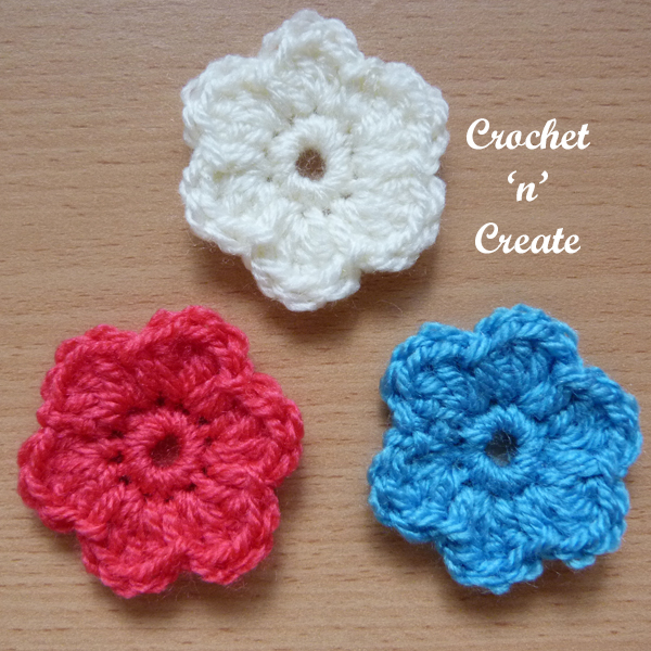 little dinky flower applique uk