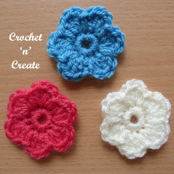 little dinky flower applique uk1