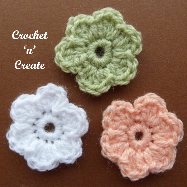Crochet dinky flower applique2
