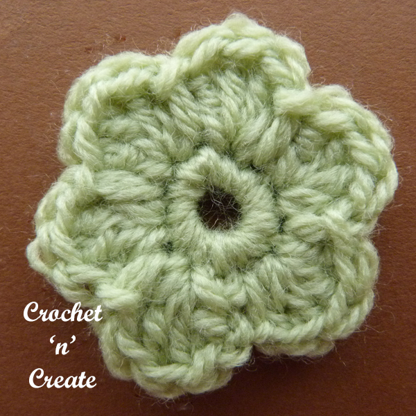 Crochet dinky flower applique3