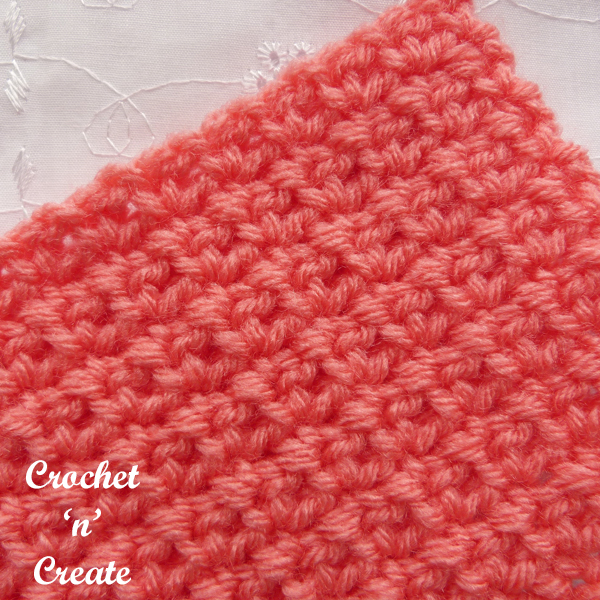 Crochet mesh stitch tutorial