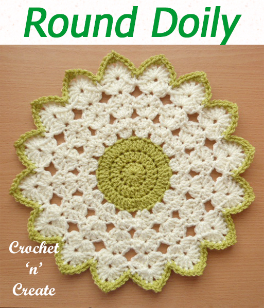 Crochet this free round doily pattern for your home, beautiful two color table centre you can use in most rooms, ie dressing tables, coffee tables, tops on bathroom cupboards etc. CLICK and scroll down the page for the pattern. | #crochetdoily #crochetmandala #crochettablecentre #crochetncreate #crochet #howto #crochetpattern #freecrochetpattern #easypattern #freepattern #forbeginners #diy #crafts #crochetaddict #followforcrochet