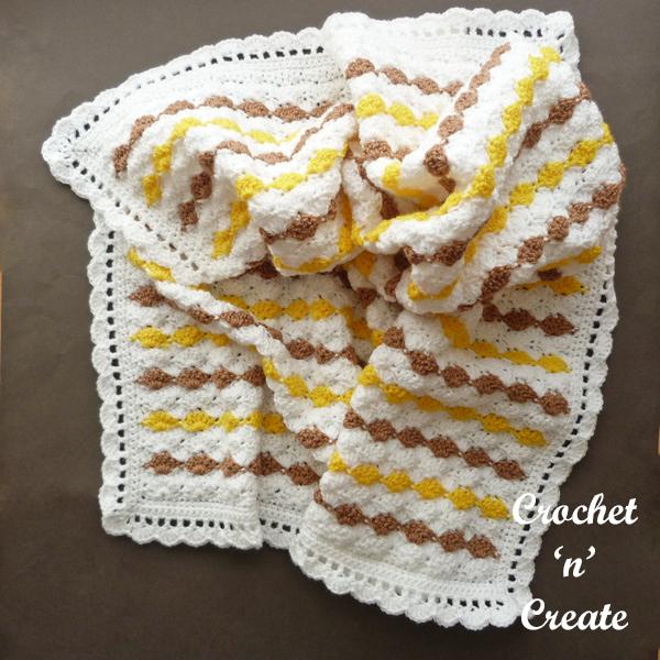 ruffled blanket