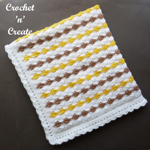 Shell stroller blanket pattern