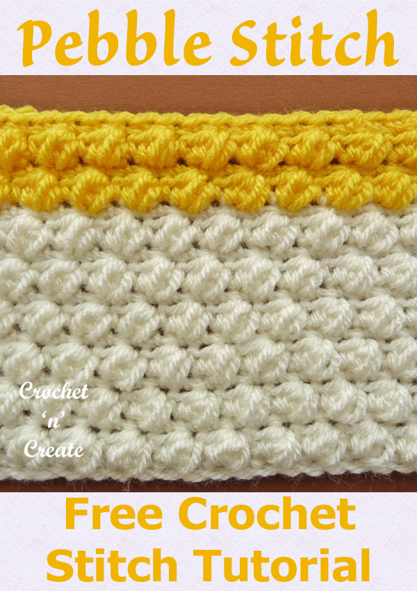 pebble stitch crochet tutorial