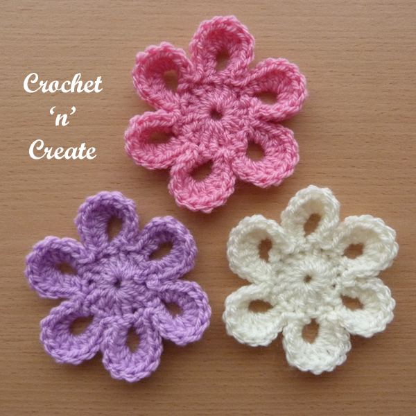 Crochet petal flower uk