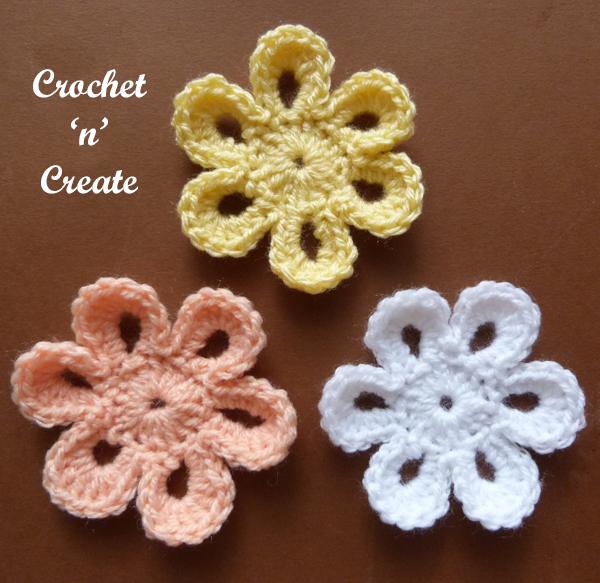 six petal flower3 trio