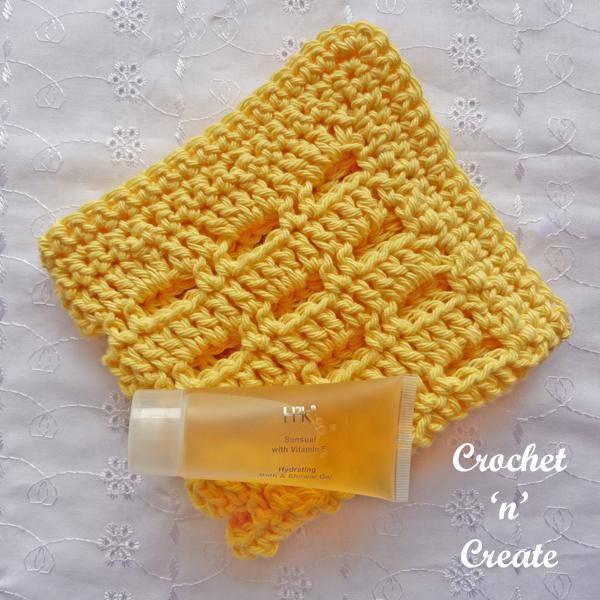 Crochet lemon facecloth