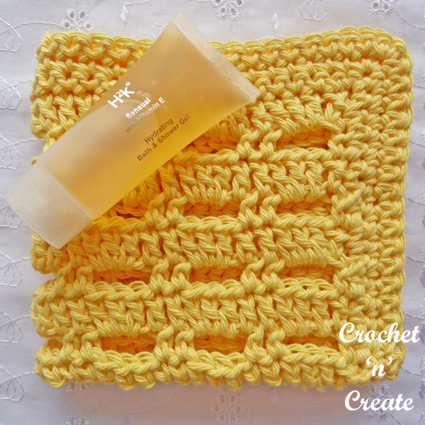 Crochet lemon facecloth uk pattern