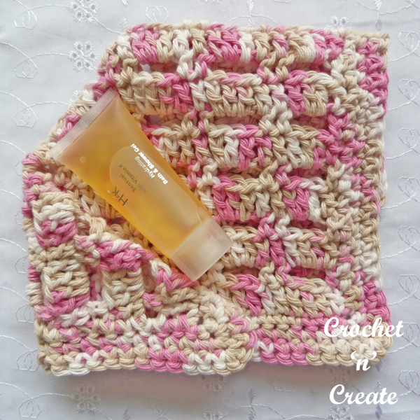Crochet speckled facecloth