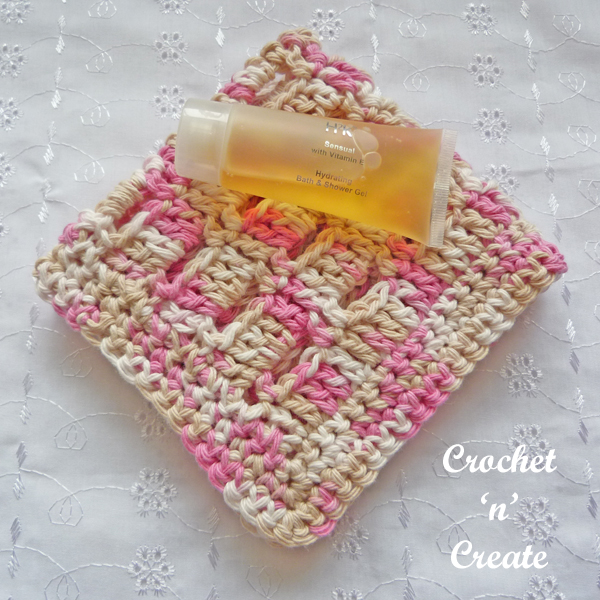 Crochet speckled facecloth pattern