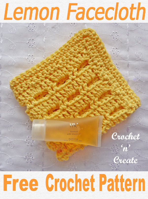 Crochet lemon facecloth uk