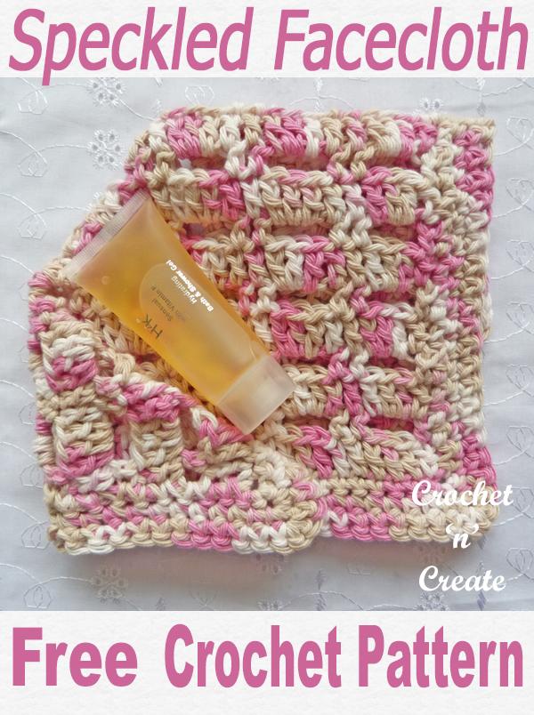 Crochet speckled facecloth free crochet pattern