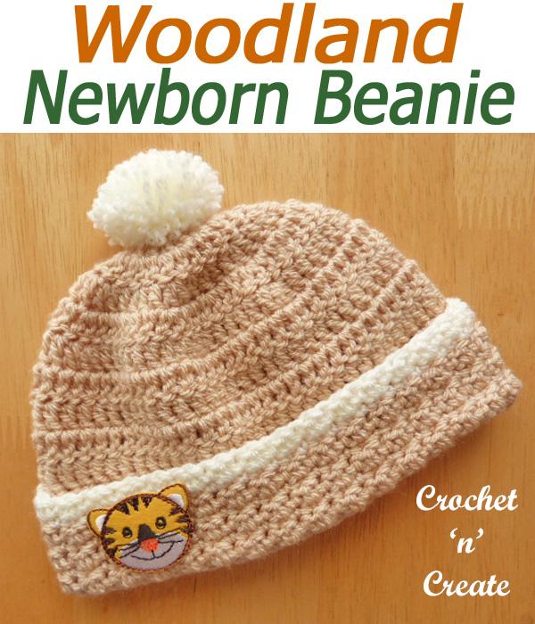 Woodland newborn beanie