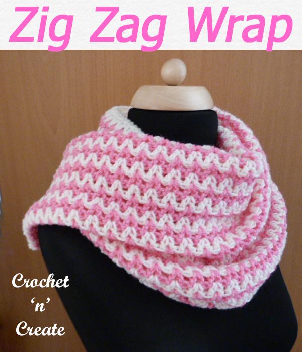 zig zag wrap free crochet pattern
