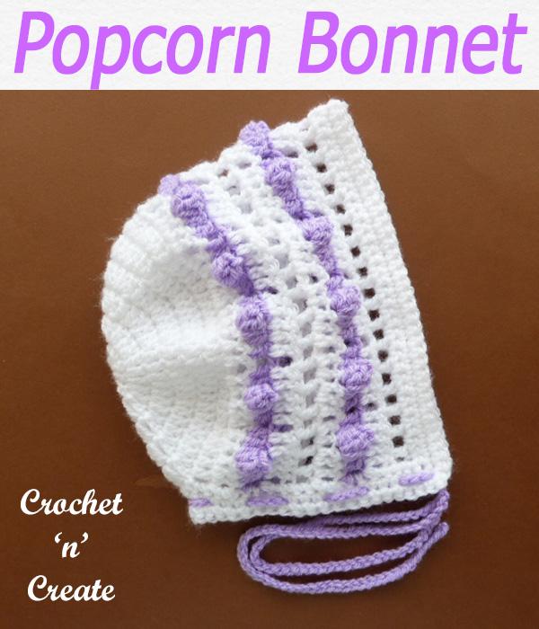 Popcorn bonnet