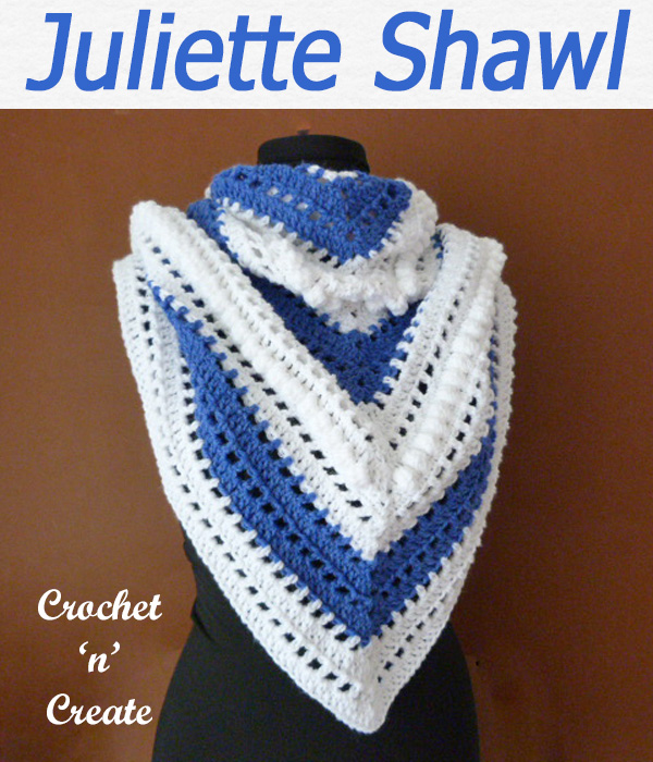 juliettte shawl free crochet pattern