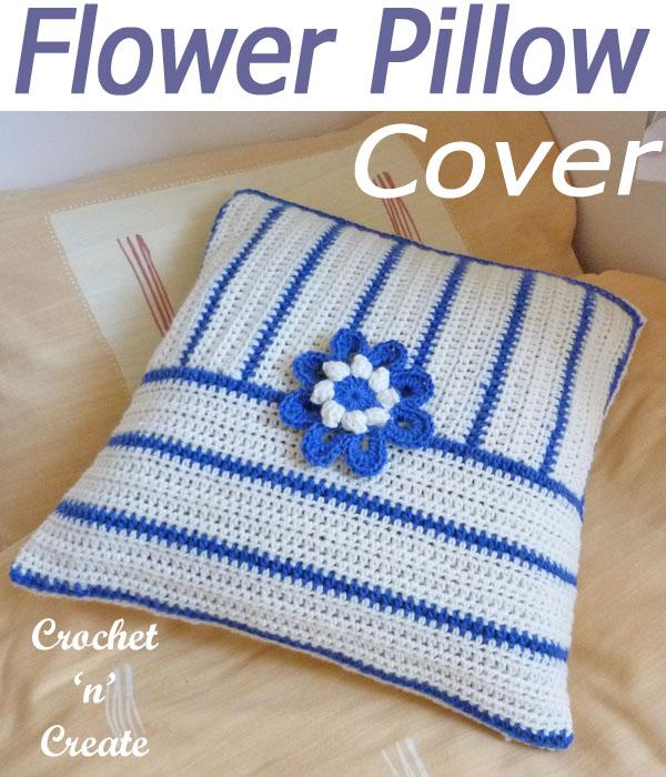 flower pillow cover