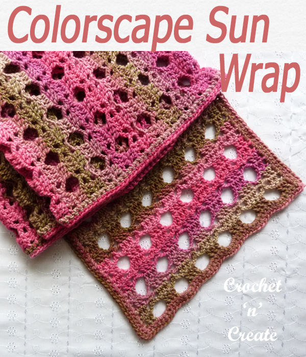 colorscape sun wrap free crochet pattern