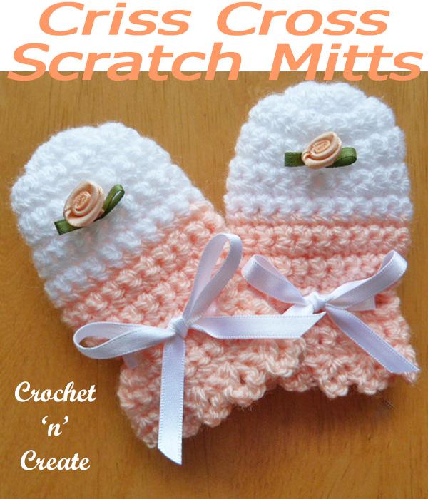 Crisscross scratch mitts