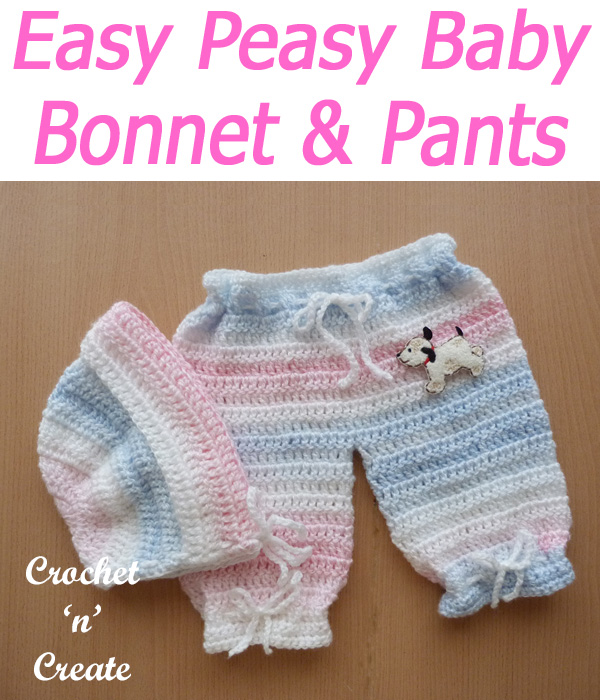 Easy peasy bonnet and pants