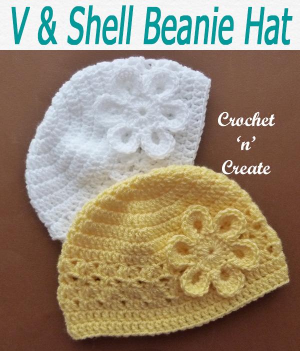 V-shell beanie hat