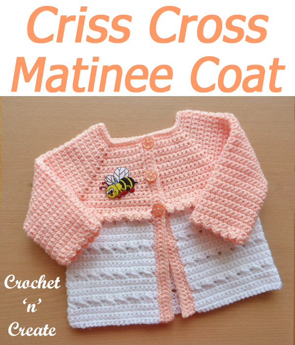 crisscross matinee coat