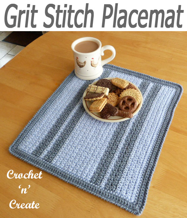 grit stitch placemat