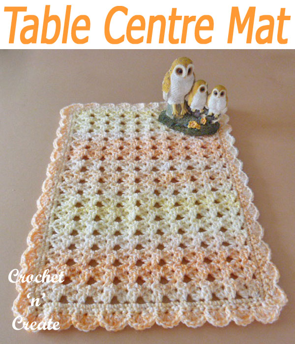 table centre mat