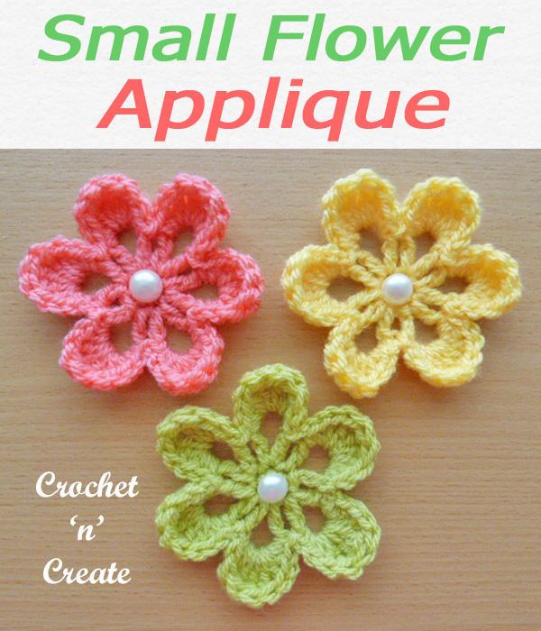 36 small flower applique