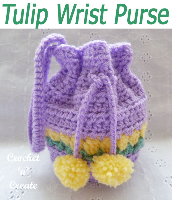 tulip wrist purse