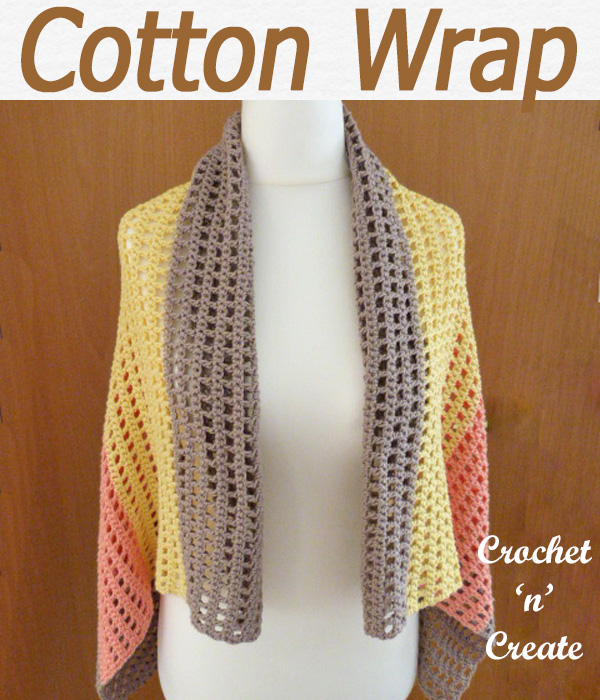 cotton wrap free crochet pattern