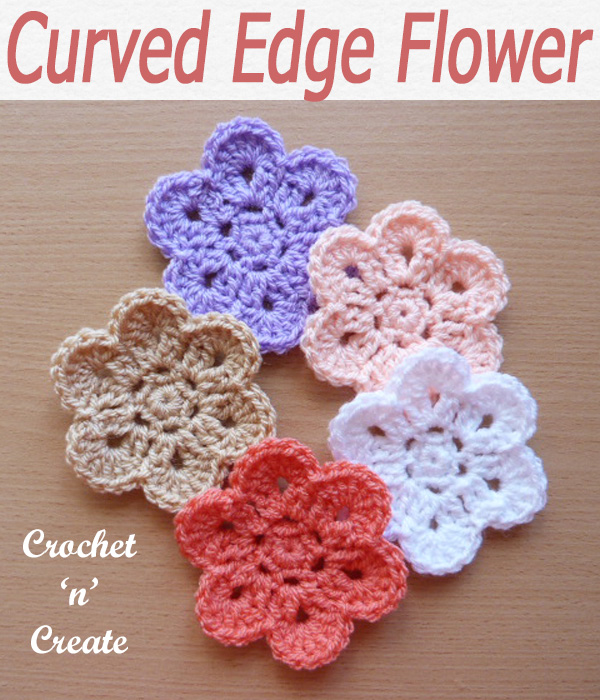 58-curved edge flower