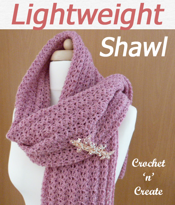 lightweight shawl lacy wrap free crochet pattern