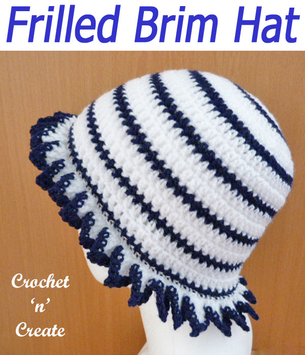 frilled brim hat
