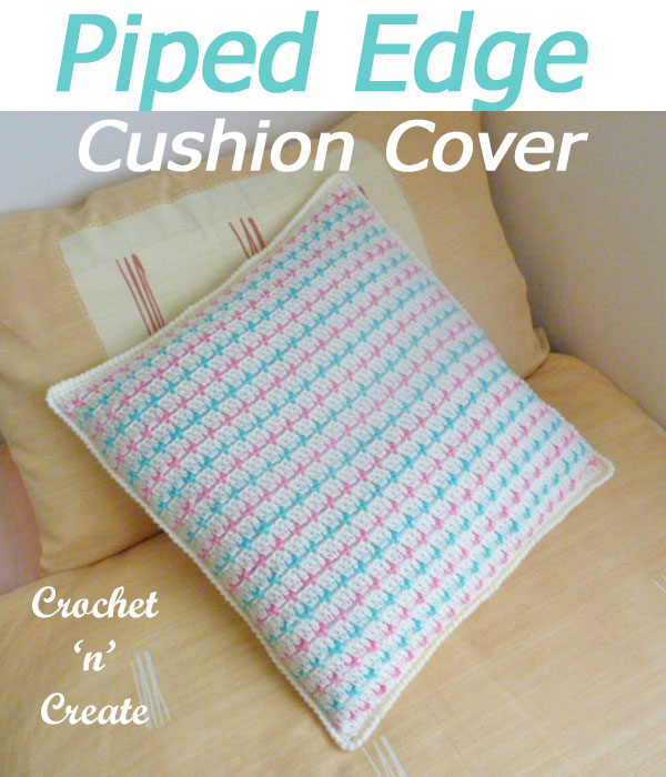 piped edge cushion cover