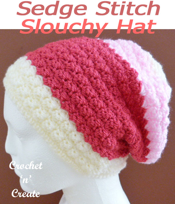 sedge stitch slouchy hat