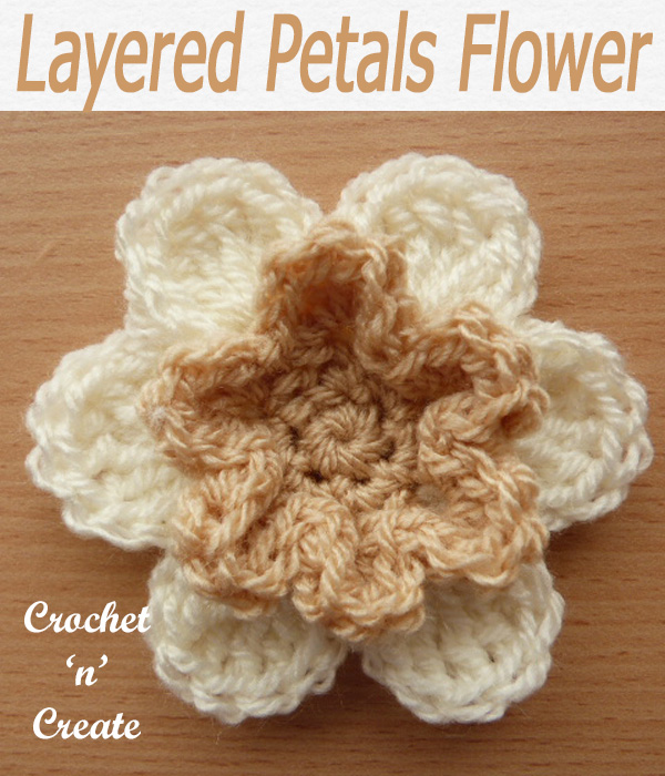 75-Layered Petals Flower Motif