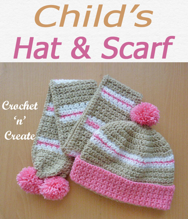 Childs hat-scarf