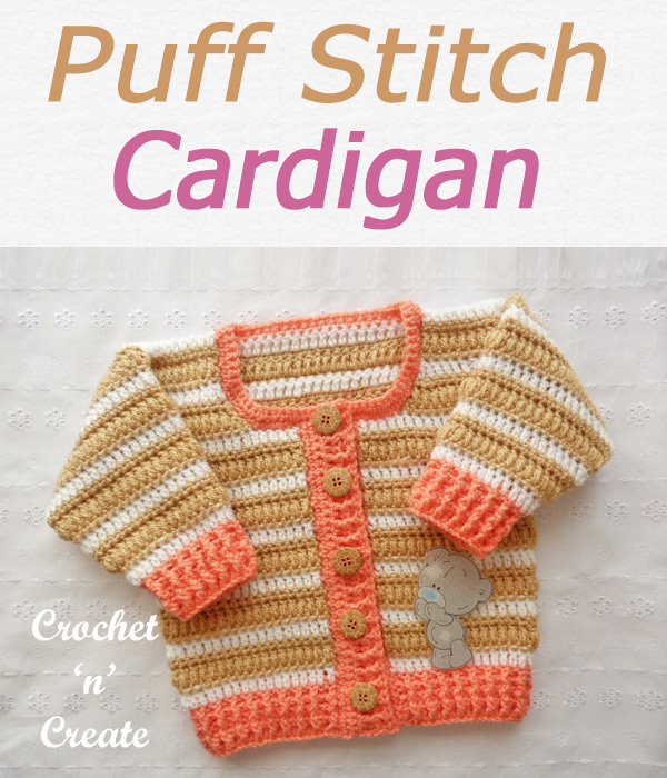 Puff stitch cardigan