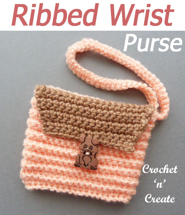 ribbed wrist purse