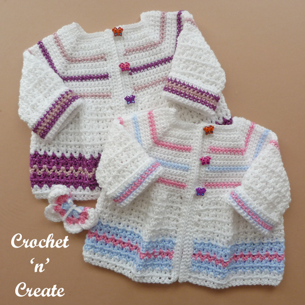 CROCHET PATTERN for BABY MATINEE JACKET /& HAT #263 NOT CLOTHES