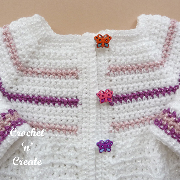 butterfly baby jacket yoke